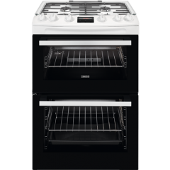 Zanussi ZCG63250WA Gas Cooker With Electric Grill