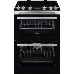 Zanussi ZCI66278XA Agency 60Cm Electric Double Oven With Induction Hob - Stainless Steel - A/A Rated