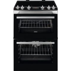 Zanussi ZCV66078XA Agency 60Cm Electric Double Oven With Ceramic Hob - Stainless Steel - A/A Rated