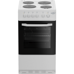 Zenith ZE503W 50Cm Single Oven Electric Cooker With Solid Plate - Hob White- A Energy Rated